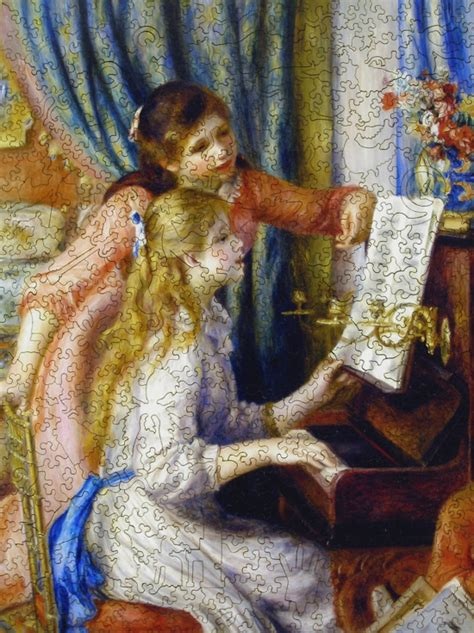 young girls   piano wooden jigsaw puzzle