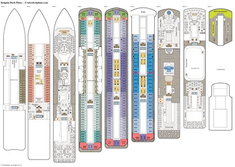 Printable Deck Plans by Insignia Deck Plans Cabin Diagrams Pictures