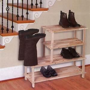 Range Chaussures Bois : rangements chaussures maison fut e ~ Dode.kayakingforconservation.com Idées de Décoration