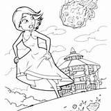 Meteor Coloring Aliens Monsters Susan Designlooter Monster Running Away 38kb 300px sketch template