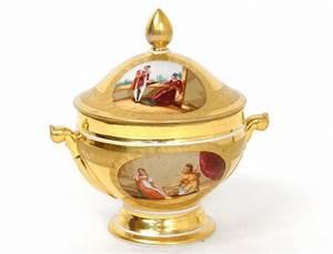 Pot A Couvert : pot couvert petite soupi re porcelaine paris sc nes galantes empire xix me ~ Teatrodelosmanantiales.com Idées de Décoration