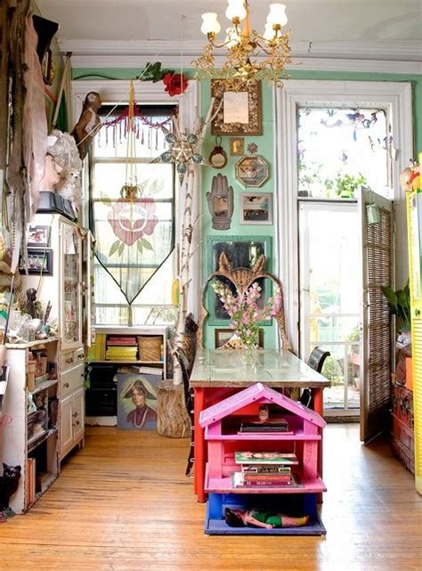 25 Whimsy Bohemian Kitchens   MessageNote