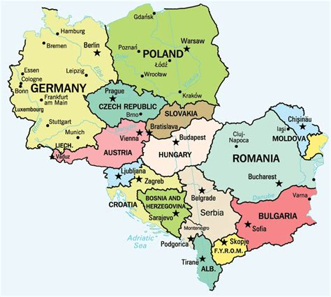 map  central europe central europe political map