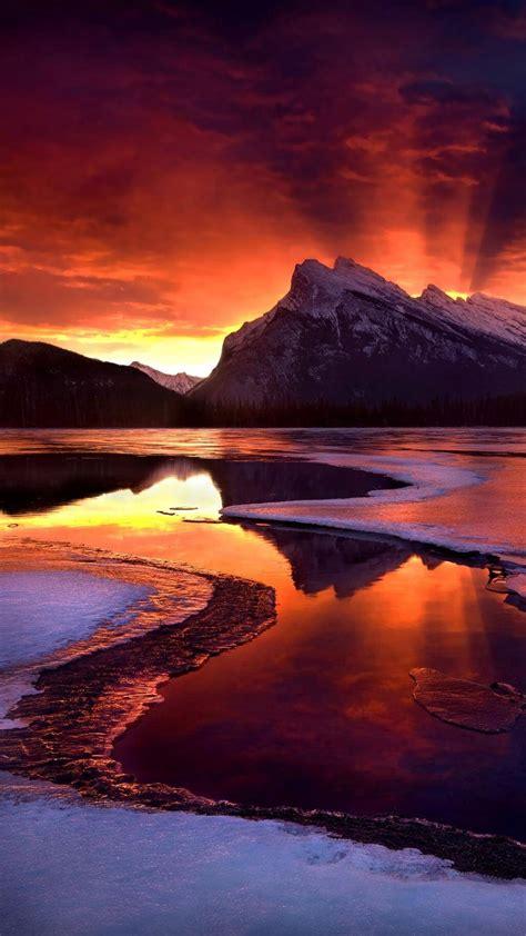 唯美山峰手机风景壁纸图片_挖好图