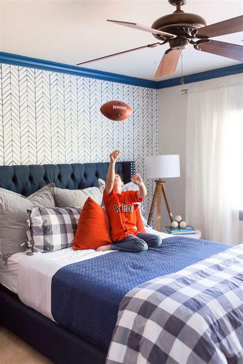 boys baseball bedroom makeover honey  home