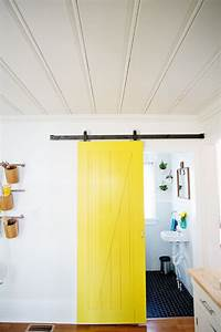 sliding door solution for small spaces a beautiful mess With barn doors for small spaces