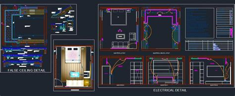 Bedroom Electrical and False Ceiling Design   Plan n Design
