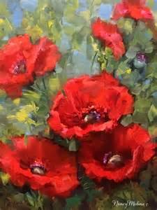 Poppy Paintings by Nancy Medina
