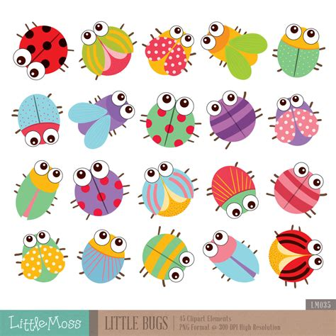 Bug Clip Colorful Insect Clipart Clipground