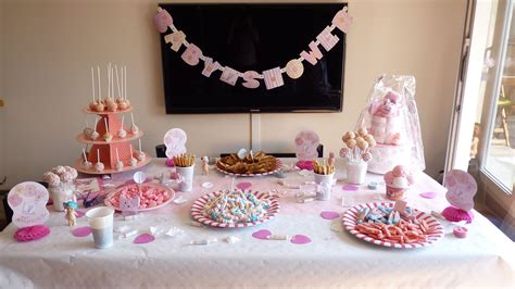 deco baby shower univers fille baby shower filles deco