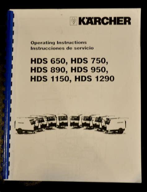 karcher hds series pressure washers and parts description manual ebay