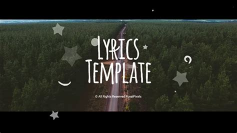 Lyrics Template (special Events) After Effects Templates