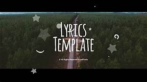 lyrics template special events after effects templates With after effects lyric video template
