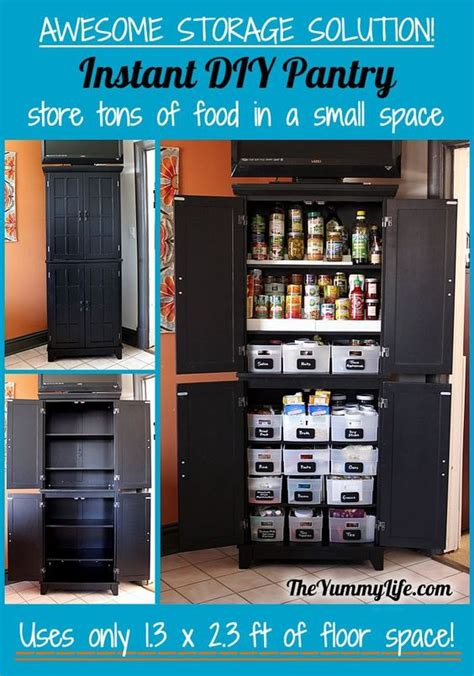 kitchen craft pantry cabinet instant diy pantry cabinet an easy kitchen storage
