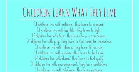 Blissful Roots Children Learn What They Live {printable}