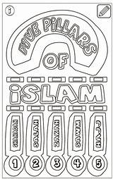 Islam Pillars Coloring Colouring Five Islamic Again Bar Looking Case Don Coloringpagesfortoddlers sketch template