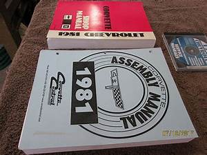 Fs  For Sale  1981 Corvette Service Manual And Assembly