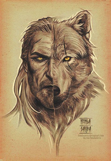 geralt of rivia white wolf artwork by hindasavra deviantart witcher