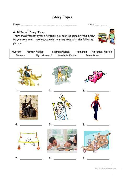 story types worksheet  esl printable worksheets