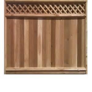 Cedar Fence with Lattice Top Panels