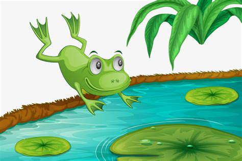 frog pond clipart  clipart station