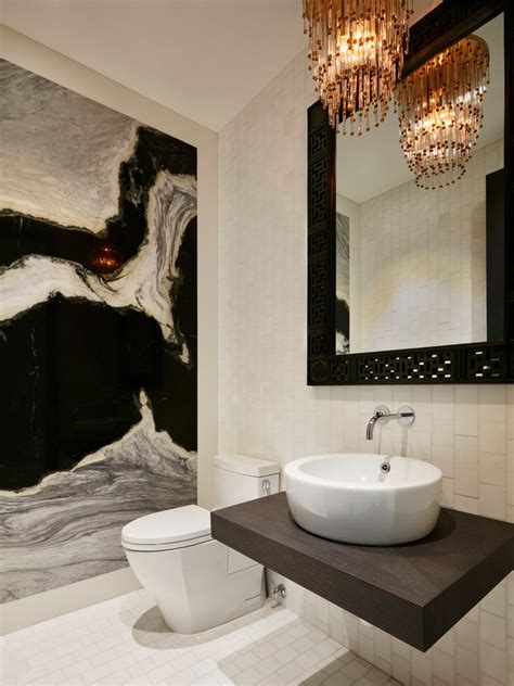 Modern Ideas For Bathroom Walls by Miami Bathroom Accent Wall Ideas Powder Room Contemporary