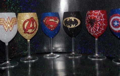Glitter glass Superhero wine glass 30cl individual