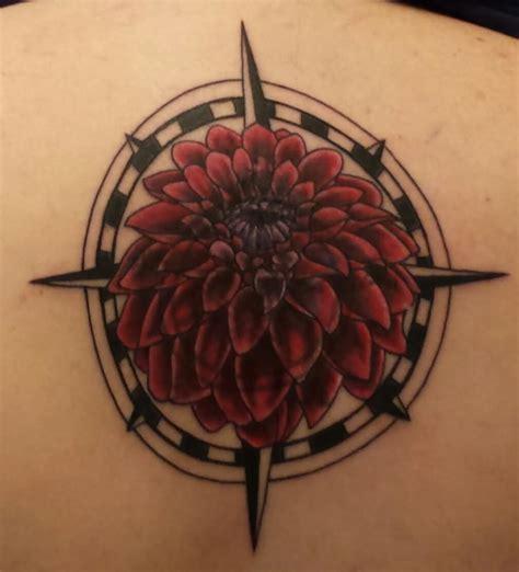 beautiful dahlia tattoos