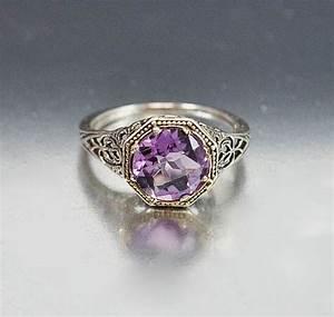Vintage Sterling Silver Filigree Amethyst Ring #Vintage # ...