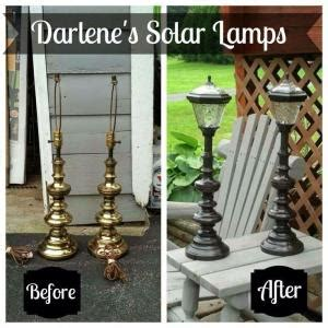dollar store solar lights on plant hook this idea