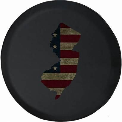 Jeep Tire Flag Distressed Spare American Rv