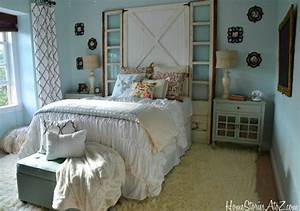 diy headboard With barn door style headboard
