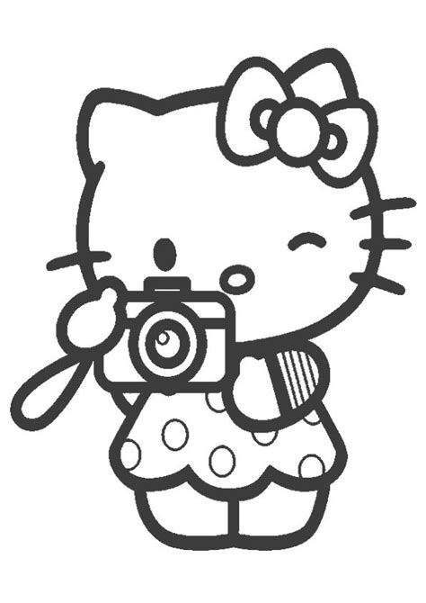 print coloring image momjunction  kitty colouring pages kitty coloring  kitty