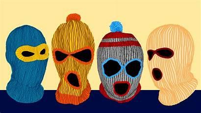 Fine Society6 Ski Mask Drawing Colorful Creepy