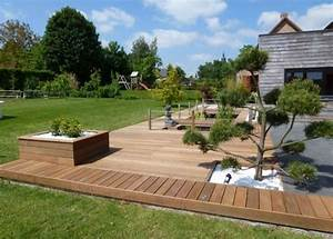 Mobilier De Terrasse : terrasse en bois arras terrasse bois composite mobilier de jardin home garden design ~ Teatrodelosmanantiales.com Idées de Décoration