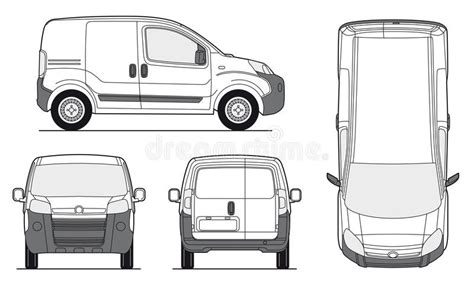 transit template eps delivery van template vector stock vector illustration