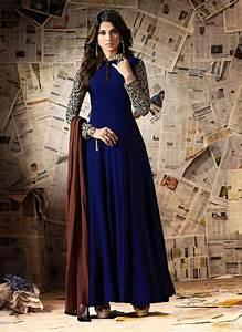 Buy Jennifer Winget Beige N Aqua Blue Anarkali Suit ...