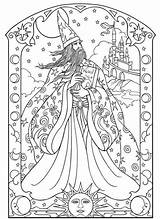 Coloring Wizard Adult Dragon Mandala Colouring Witch Dark Fairy Sheets Wizards Mandalas Ru Drawings Template Drawing Buch Wenn Mal Ausmalen sketch template