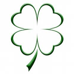 Four Leaf Clover Tattoo Outline