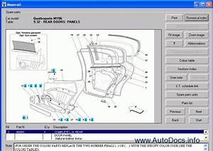 Maserati Quattroporte My06 Parts Catalog Repair Manual