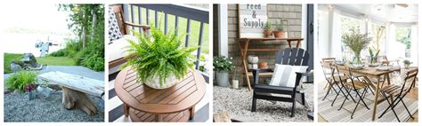 Gorgeous Outdoor Spaces by Lakefront Summer Patio And Pit Makeover Reveal