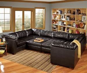 San marco 10 piece u shaped sectional by signature design for Modular pit sectional sofa