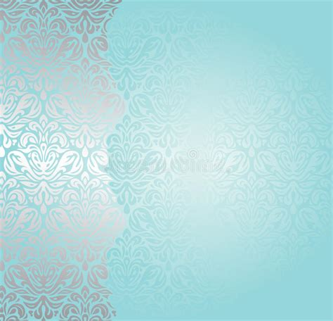 fashionable turquoise  silver invitation design stock