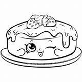 Coloring Shopkins Pancake Cake Shopkin Season Fran Sheets Dibujos Kawaii Colorear Pancakes Pintar Coloriage Colouring Rare Colour Template Birthday Colorier sketch template