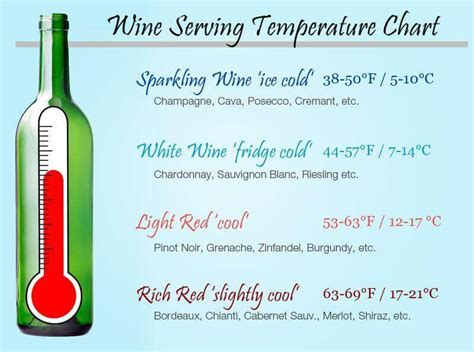 wine serving temperatures wine food pairings