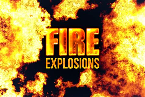 photorealistic fire explosions photoshop add ons