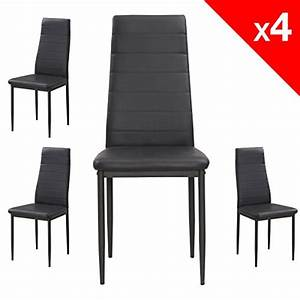 apex chaises salle a manger lot de 4 chaises cuisine With chaise cuir noir salle manger pour deco cuisine