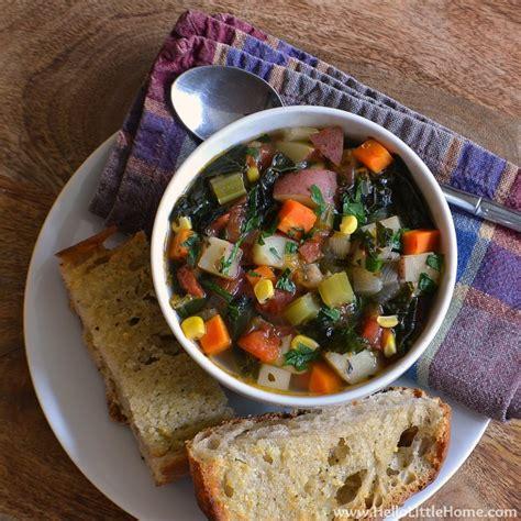 kitchen sink recipes kitchen sink vegetable soup with garlic bread 2846