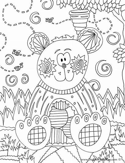 Doodle Coloring Pages Animal Alley Bear Forest