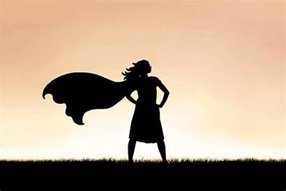 Powerful Silhouette Woman Cape Power Menu